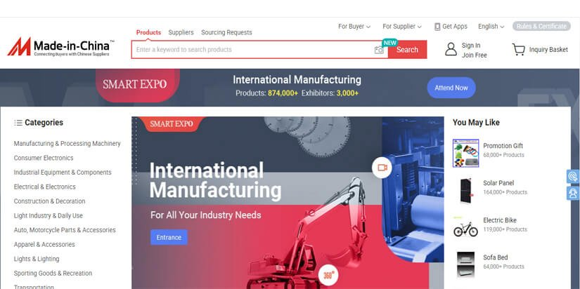 MADE IN CHINA B2B WEBSITE